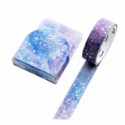Washi Tape Galáxia com foil holográfico