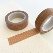Washi Tape Grid Caramelo