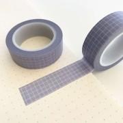 Washi Tape Grid Lilás