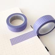 Washi Tape Grid Lilás & Azul