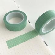 Washi Tape Grid Verde