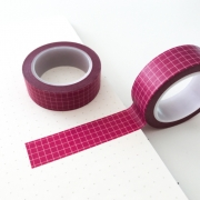 Washi Tape Grid Vinho