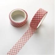 Washi Tape Xadrez Rosa