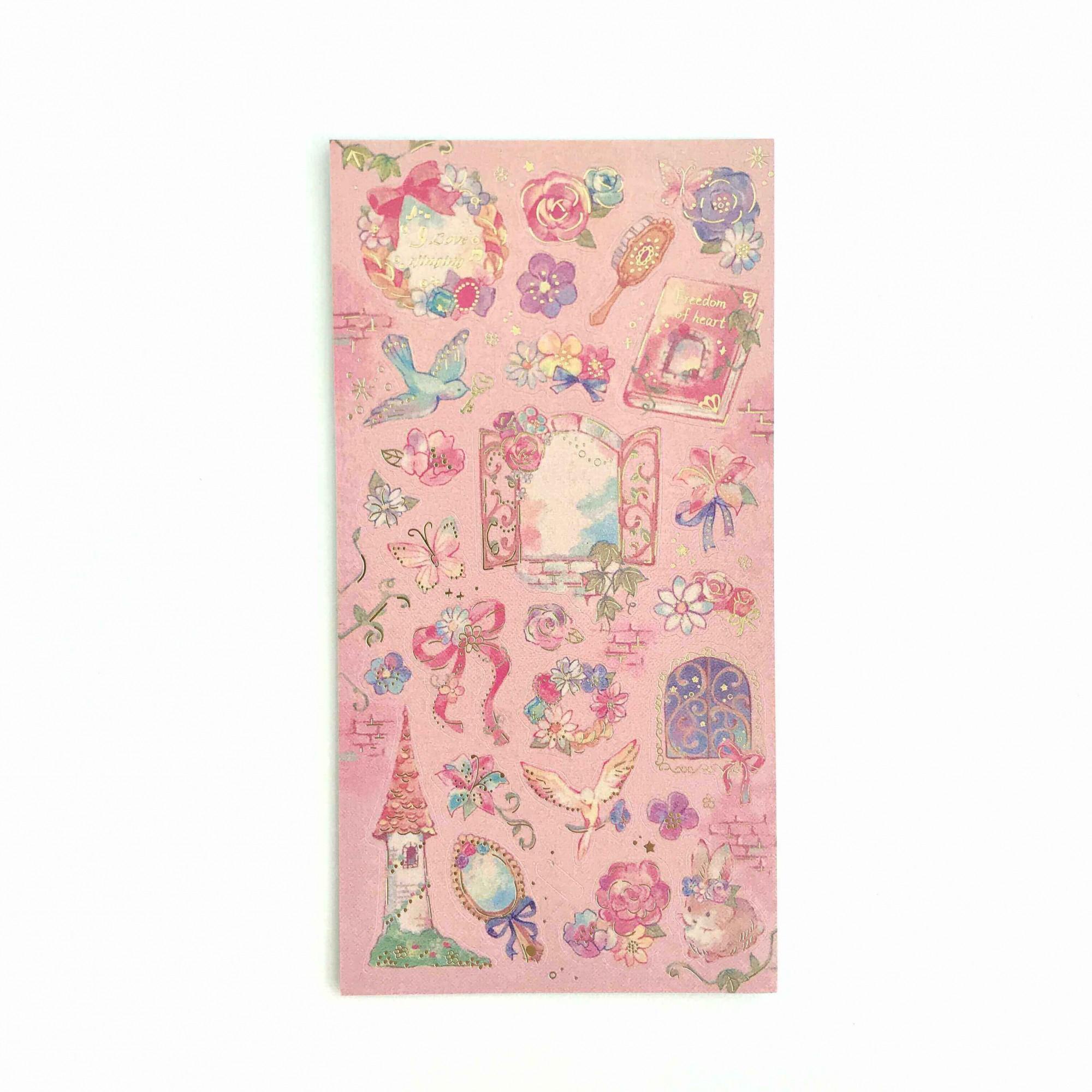 Adesivos Floral Foil