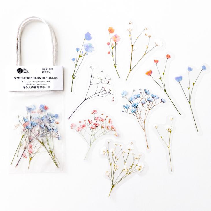 Adesivos Floral Azul