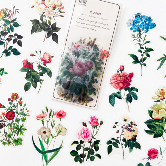 Adesivos Floral Transparente