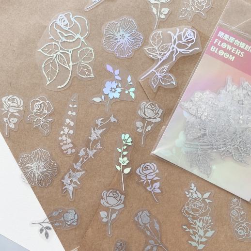 Adesivos Holográficos Floral