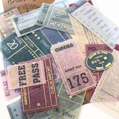 Adesivos Tickets com foil