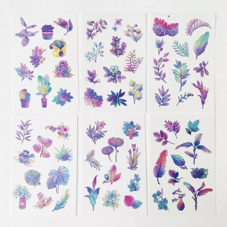 Adesivos Tie Dye Plantas - 6 cartelas