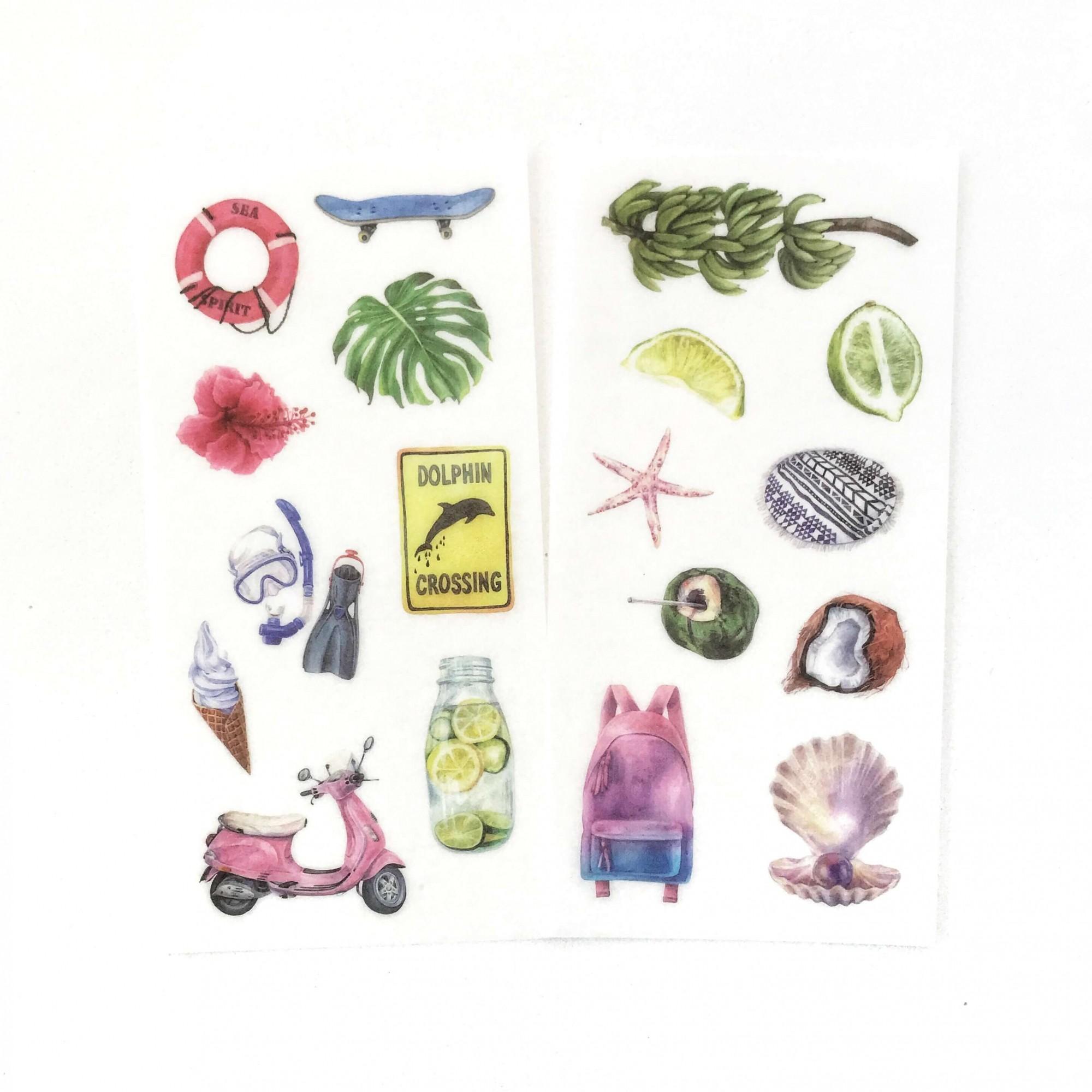Adesivos Tropical - 6 cartelas