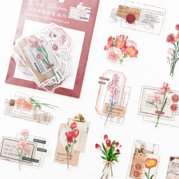 Adesivos Vintage & Flores