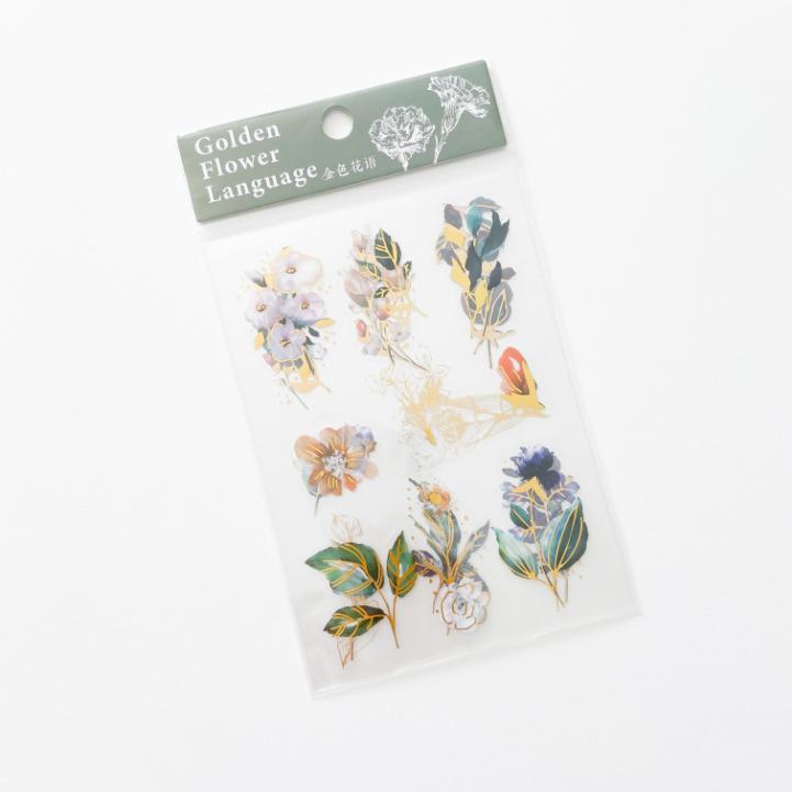 Cartelas Green Foil Flower