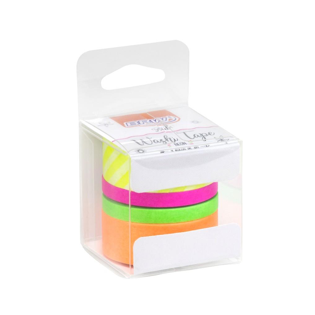 Kit 4 Washi Tape Neon BRW
