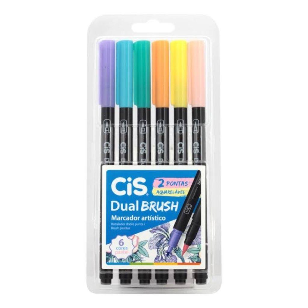 Kit Cis Dual Brush Pastel 6 Cores