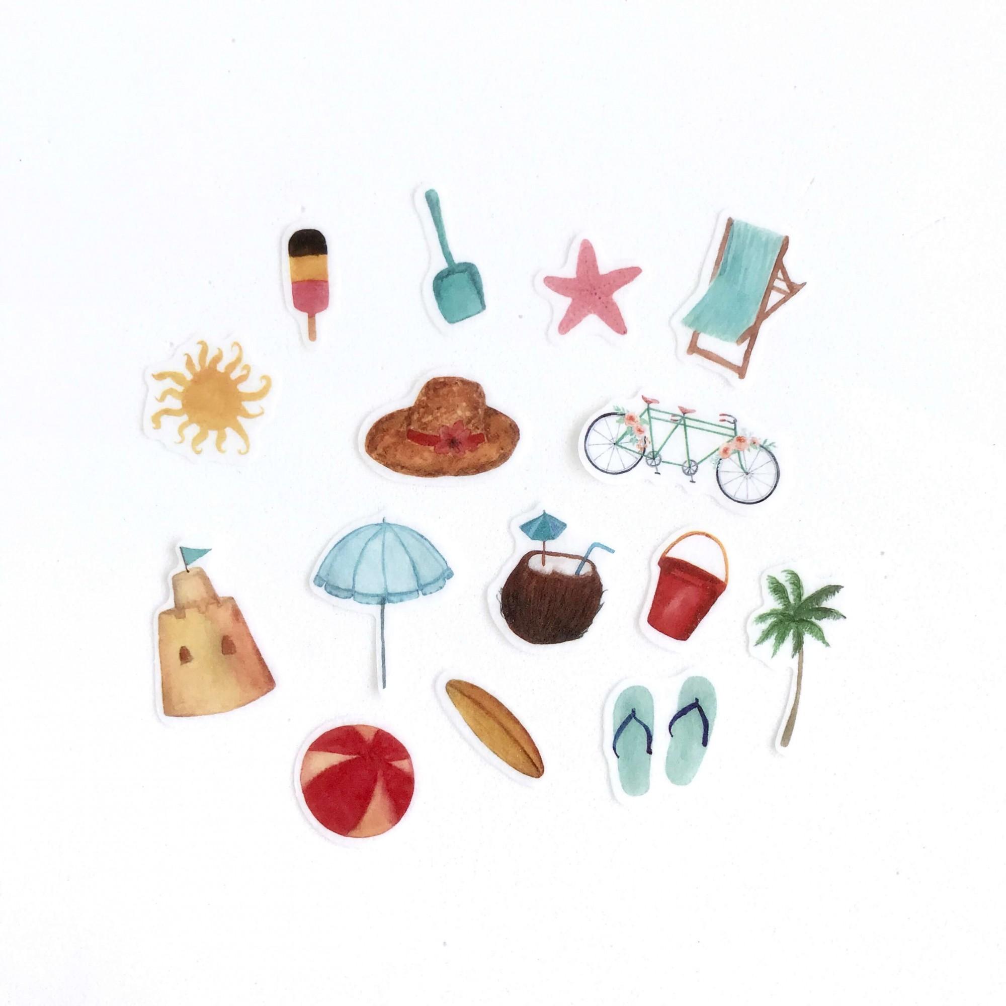 Kit de adesivos Summer