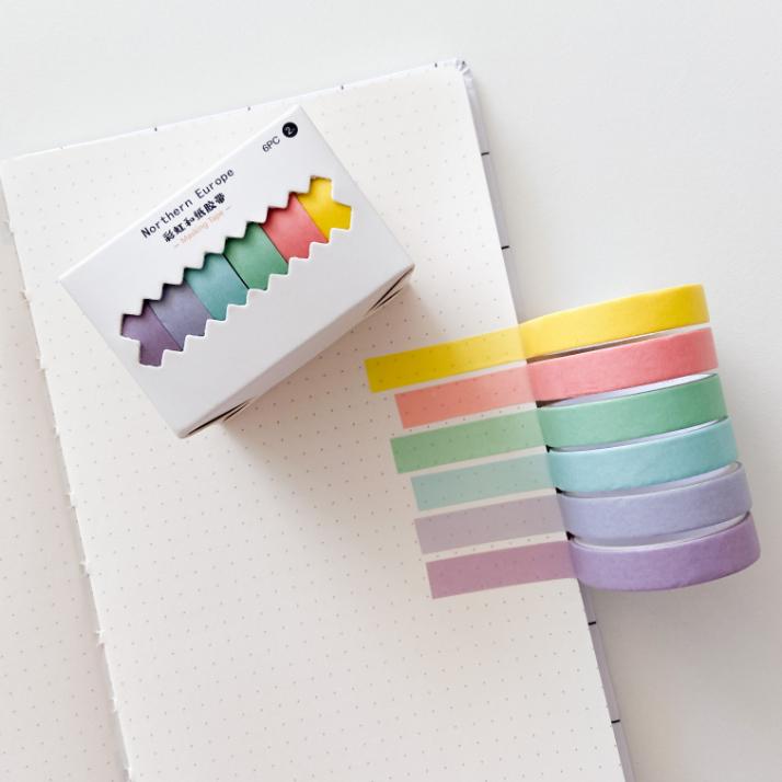 Kit de Washi Tapes Pastel