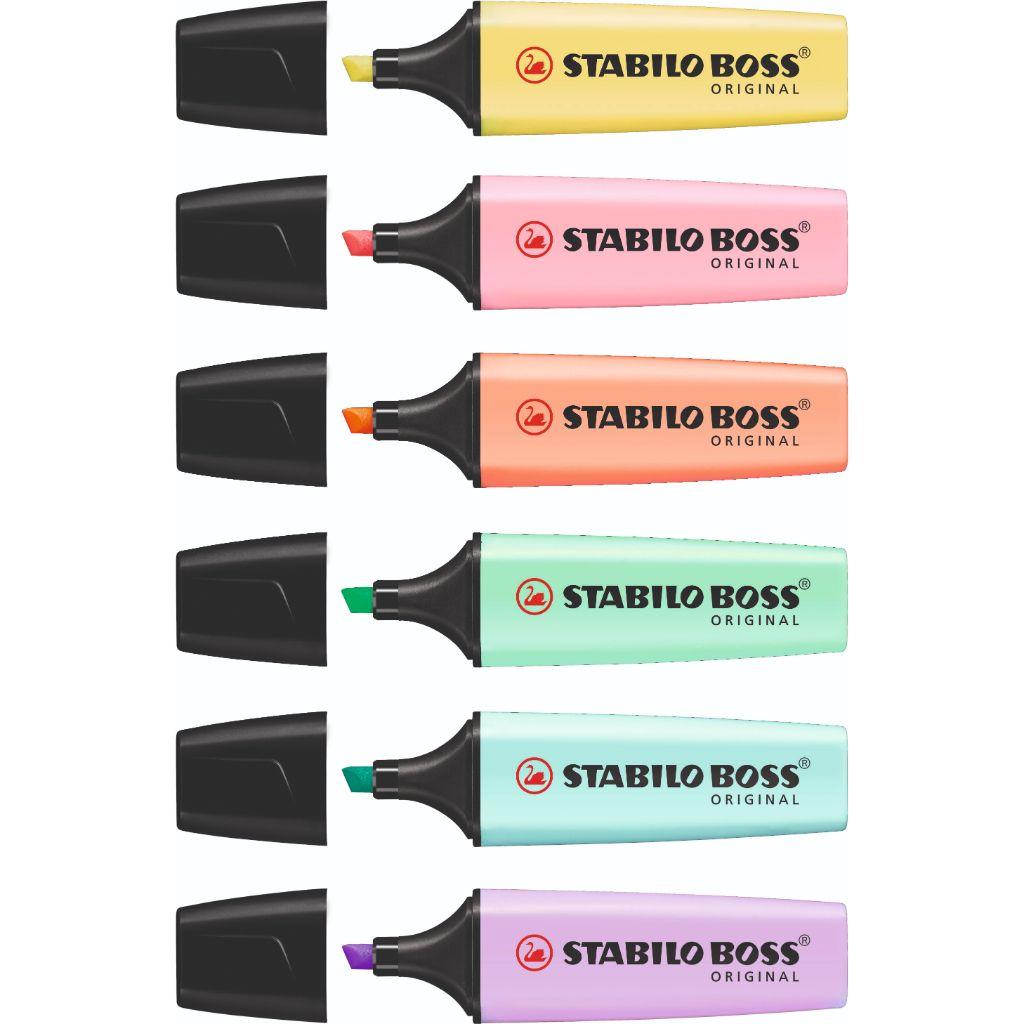 Kit Stabilo Boss Pastel 6 cores