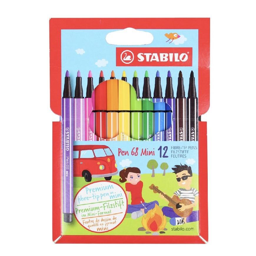 Kit Stabilo Pen 68 Mini 12 cores