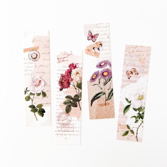 Marca Páginas Flores Vintage