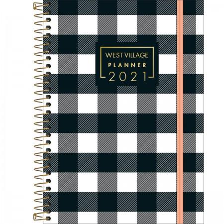 Planner Espiral West Village 2021 Xadrez