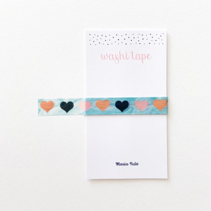 Washi Tape Corações (metro)