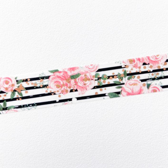 Washi Tape Floral Listras (metro)