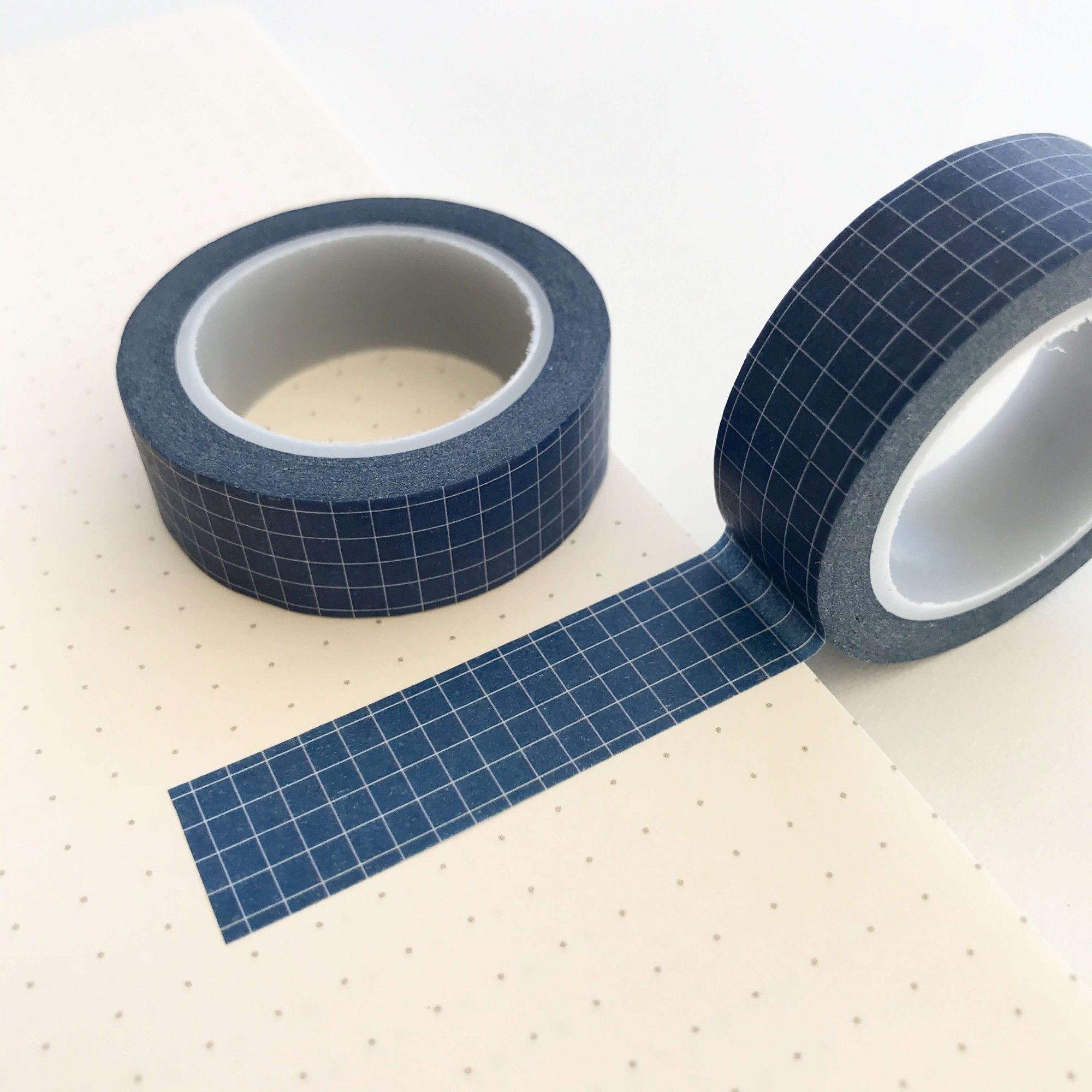 Washi Tape Grid Azul