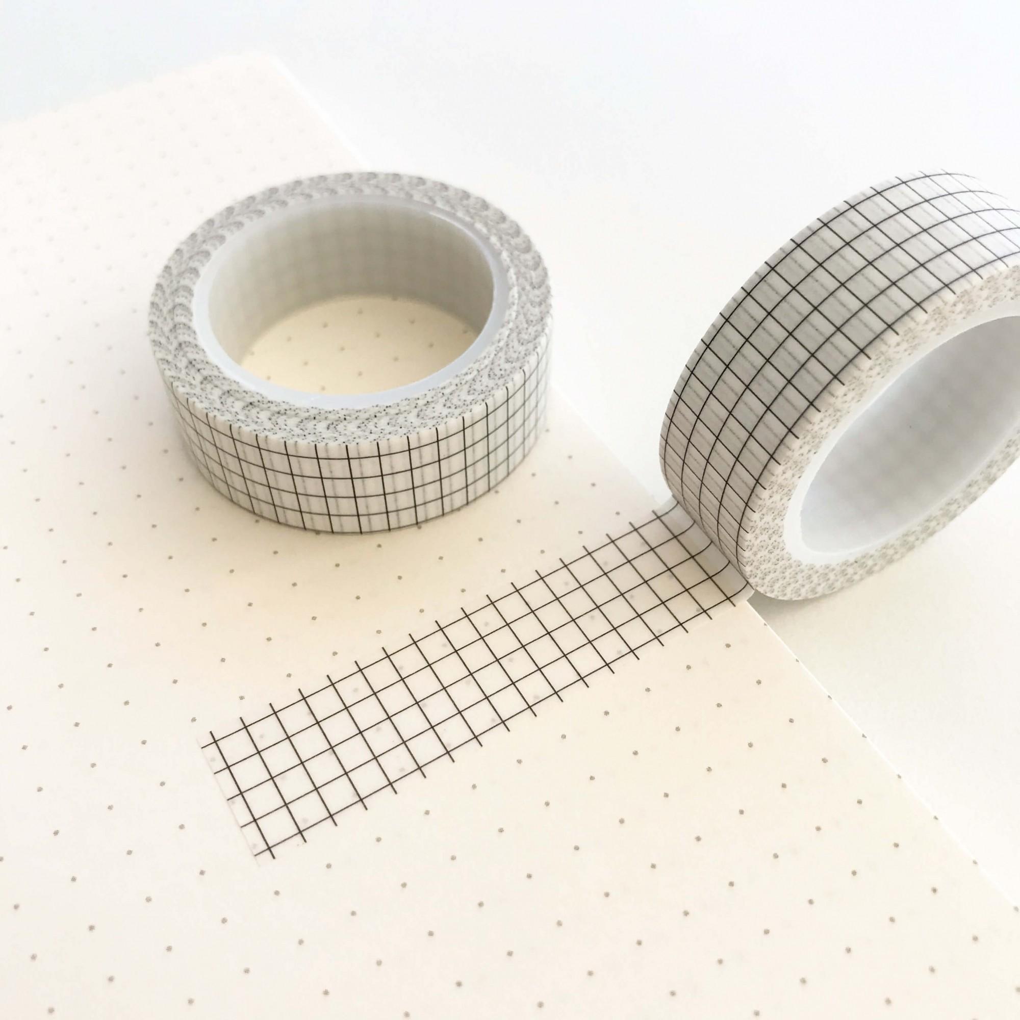 Washi Tape Grid Branca