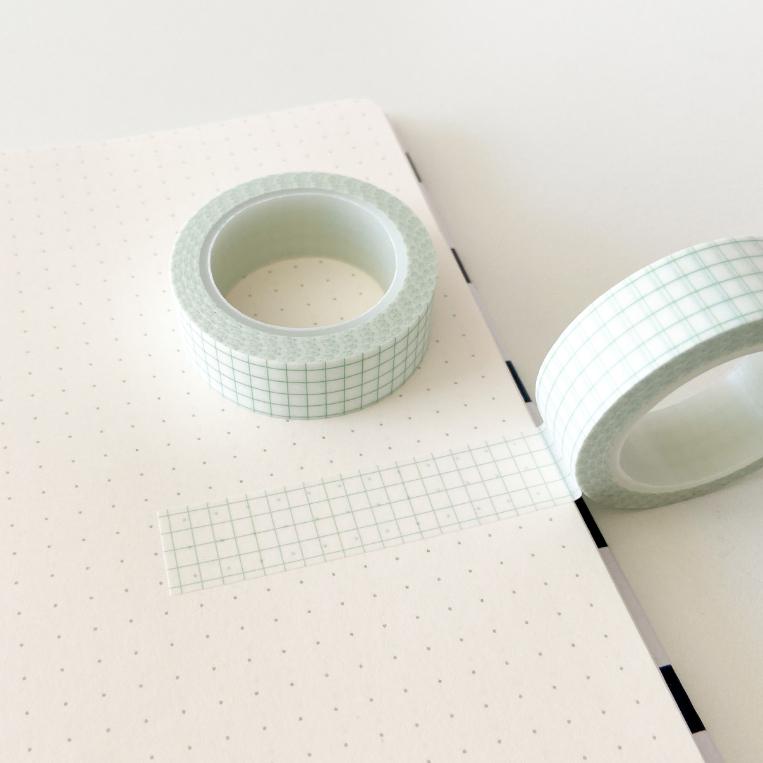 Washi Tape Grid Mint