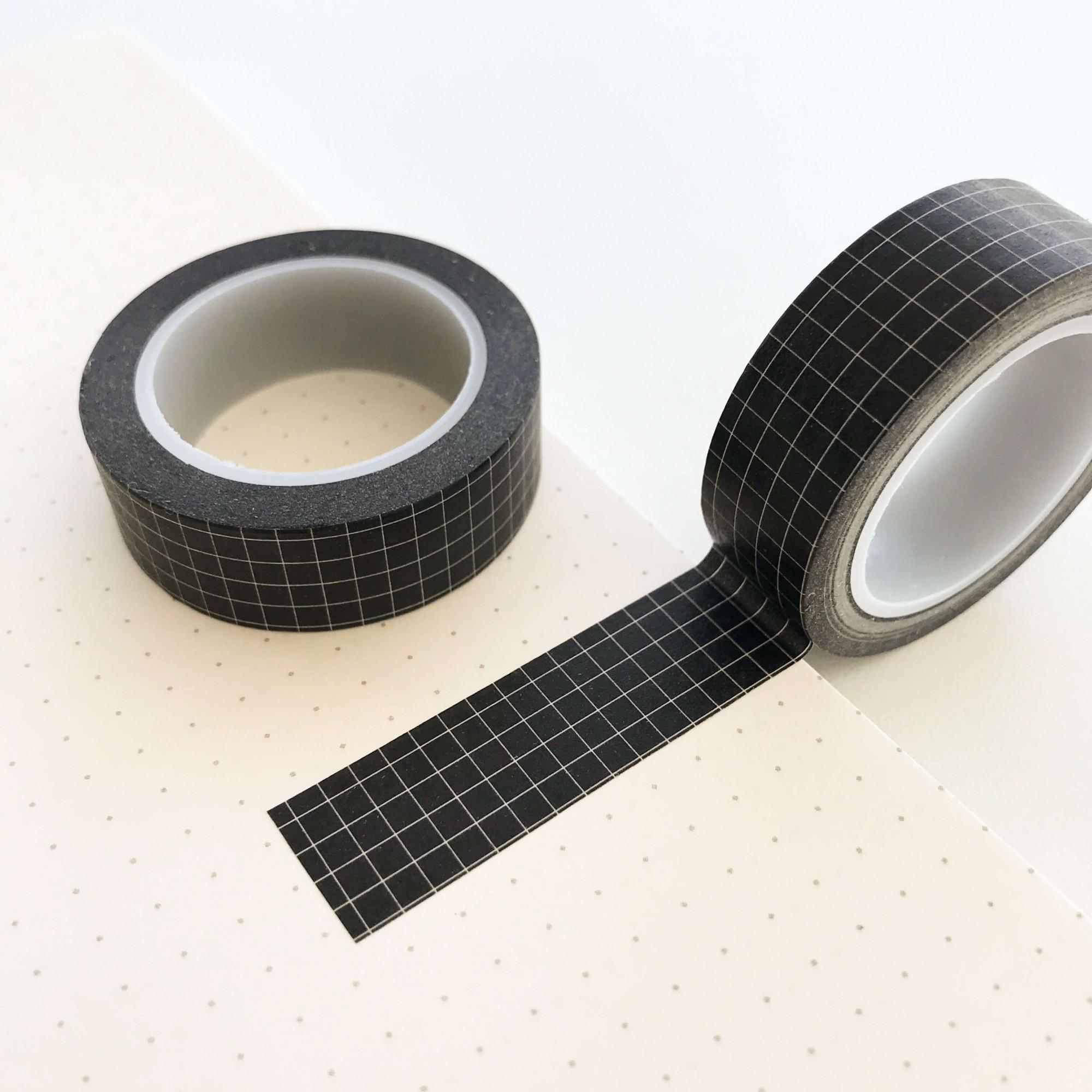 Washi Tape Grid Preta