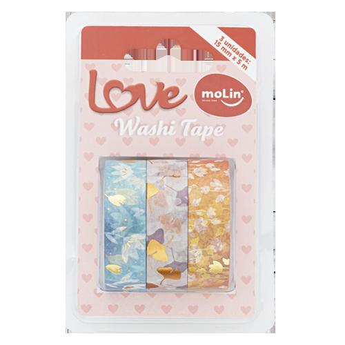 Trio Washi Tape Love Molin 8 modelos