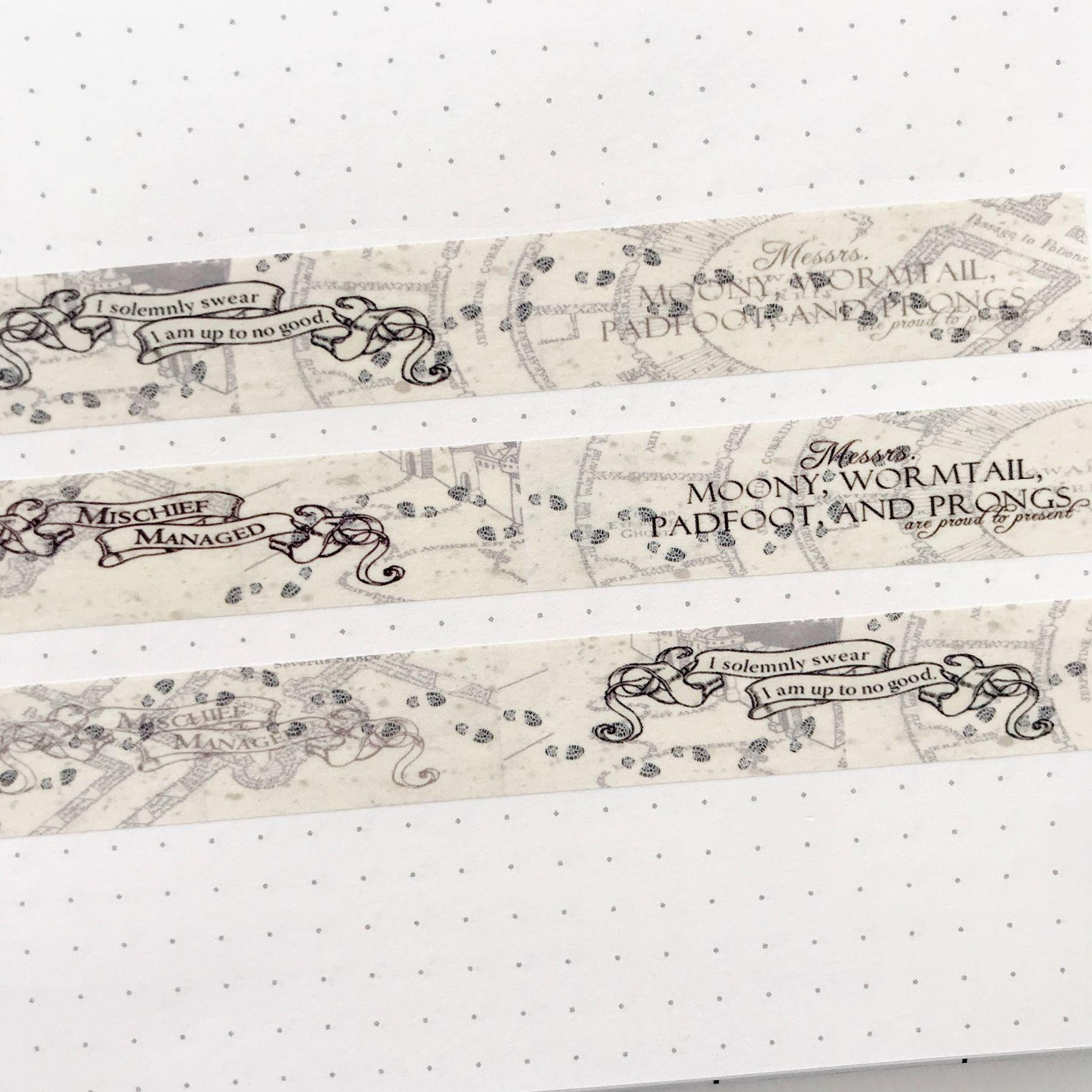Washi Tape Mapa do Maroto