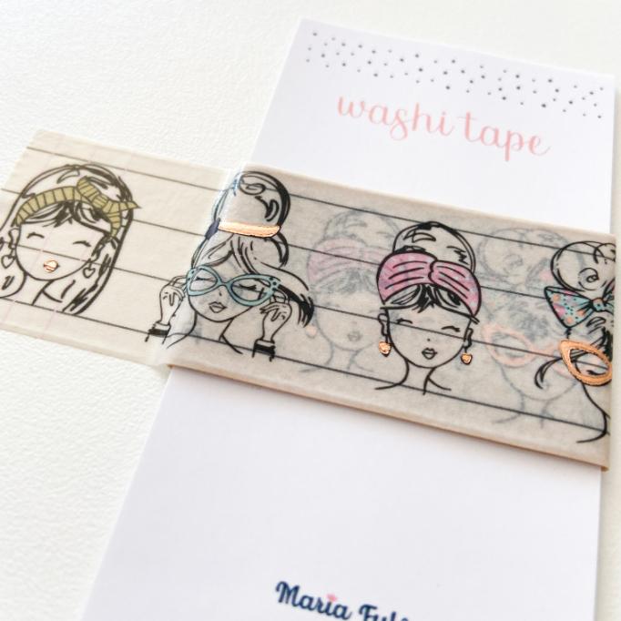 Washi Tape Meninas (metro)