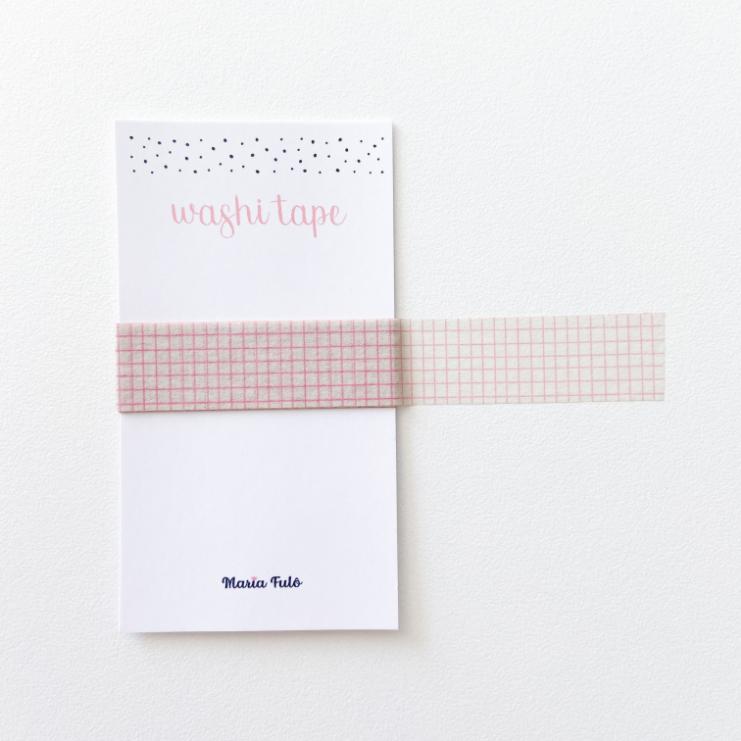 Washi Tape Mini Grid Rosa (metro)