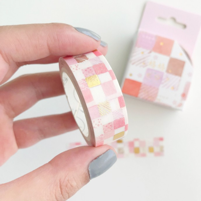 Washi Tape Mosaico foil dourado