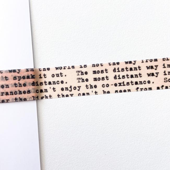 Washi Tape Vintage Frases (metro)