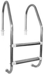 Escada em Alumínio com 2 degraus Inox