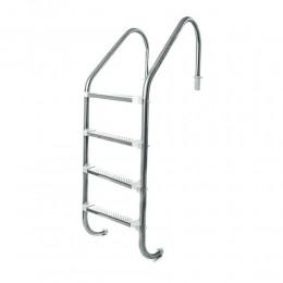Escada em Alumínio com 4 degraus Inox