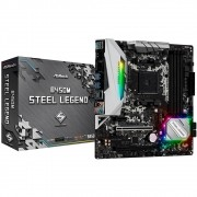 Placa-Mãe ASRock B450M Steel Legend, AMD AM4, mATX, DDR4