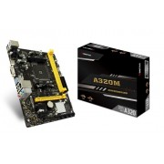Placa Mãe Biostar A320MH, Chipset A320, AMD AM4, mATX, DDR4