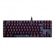 Teclado Mecânico Gamer T-Dagger Bora, LED Vermelho, Switch Blue, ABNT2
