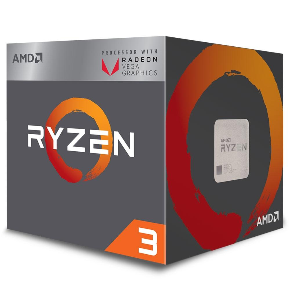 Processador AMD Ryzen 3 2200G, AM4, Cooler Wraith Stealth, Cache 6MB, 3.5GHz (3.7GHz Max Turbo)