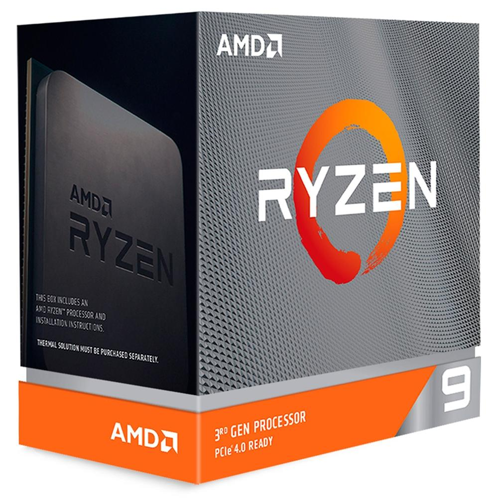 Processador AMD Ryzen 9 3900X Cache 64MB 3.8GHz (4.6GHz Max Turbo) AM4, Sem Vídeo