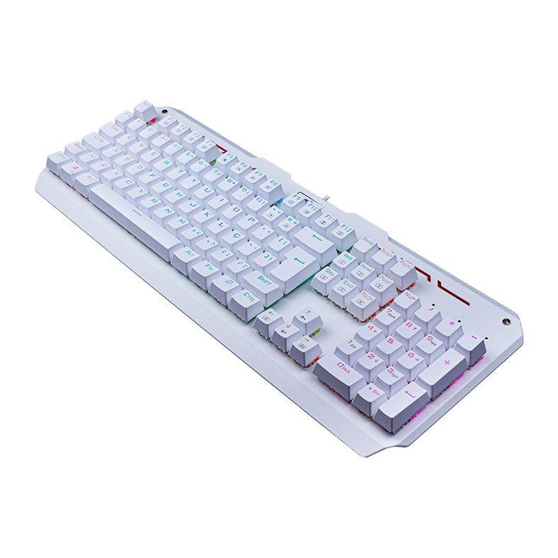 Teclado Mecânico Gamer Redragon Varuna K559W, RGB, Switch Outemu MK2 Red, ABNT2, Branco