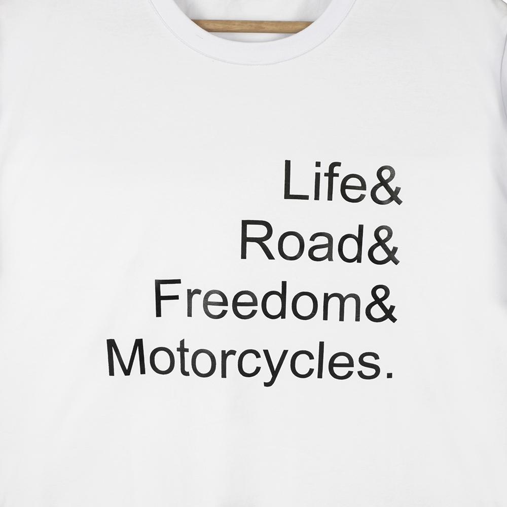 Camisa Life Motocicles Branco MTS