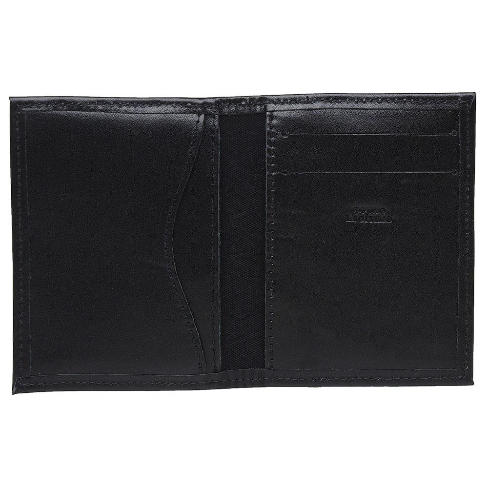 Carteira Masculina em Couro Porta Cartão MTS - Mini carteira - Preto