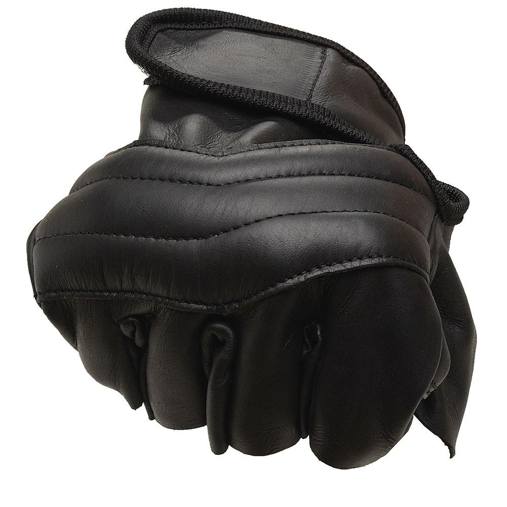 Luva Motociclista MTS 1020 - Couro - Cano Curto - 1/2 dedo