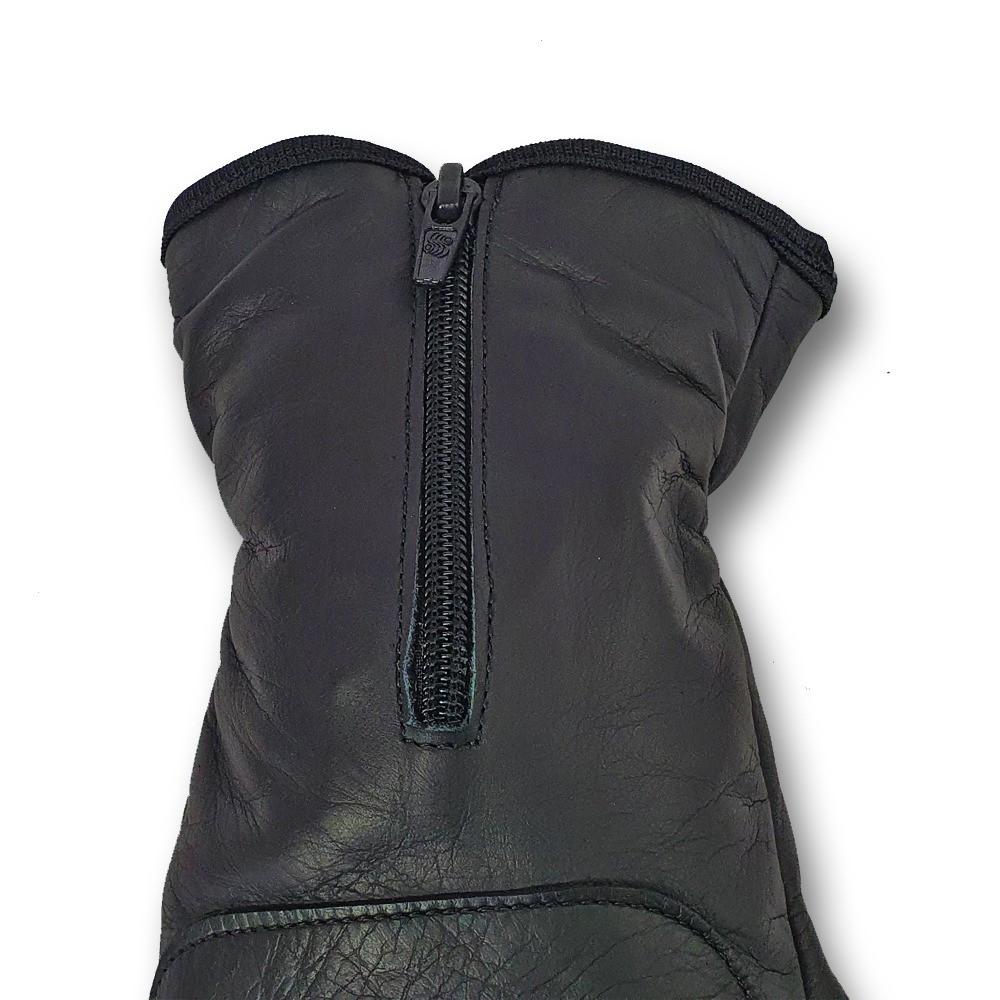 Luva Motociclista MTS 2010 - Couro - Cano Longo - Com proteção