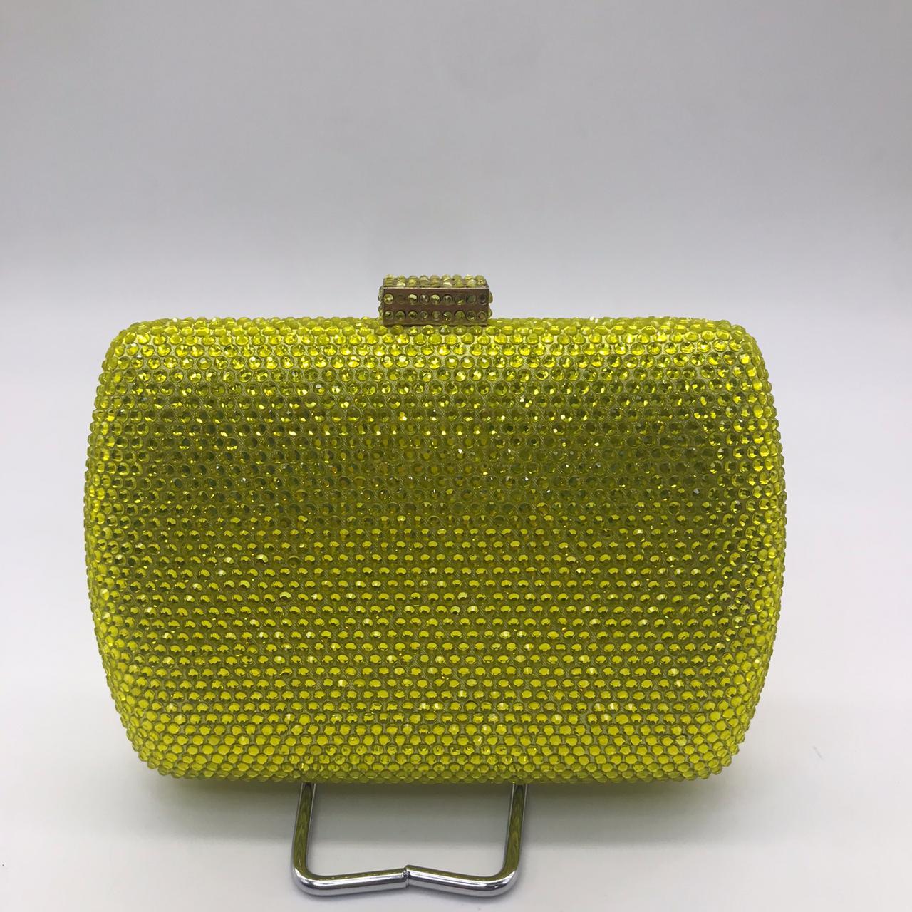 Bolsa Clutch Donna Cristal Amarelo 923HF