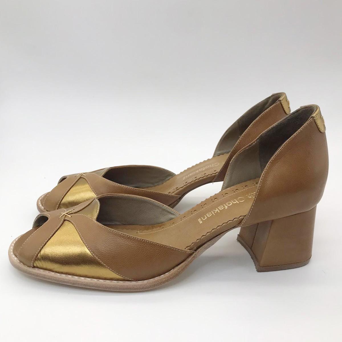 Sapato Sarah Chofakian Manchado Ourovelho KANYA-V19